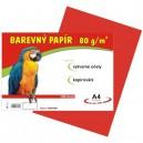 Barevný papír 80g/m2, červený
