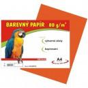 Barevný papír 80g/m2, oranžový