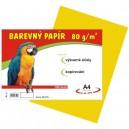 Barevný papír 80g/m2, žlutý