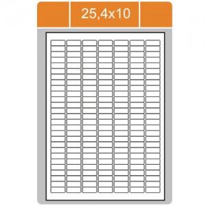 Etikety na archu A4-25,4x10